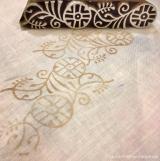 Ручная набойка по ткани