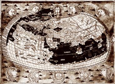 Карта мира во времена Колумба: Великие географические открытия: занятия с детьми