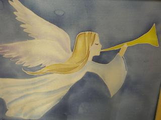 Ангелы в технике батик